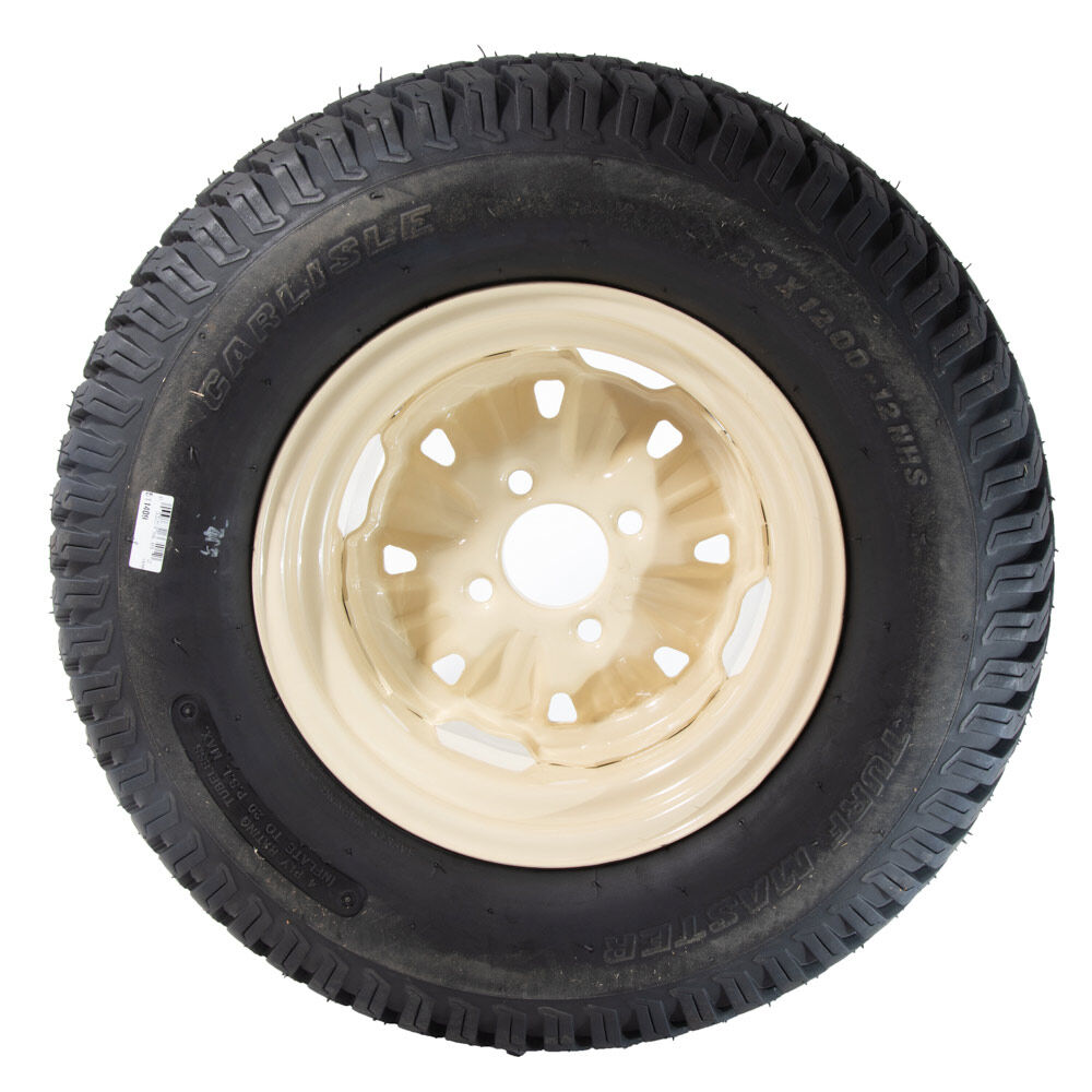 Complete Wheel Assembly (24 x 12 P) Carlisle Tire with Beige Rim 634-04734-0931